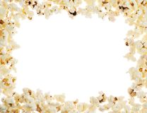 Frame made of popcorn Stock Images