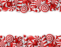 Frame made of red and white candies Royalty Free Stock Images