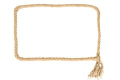 Frame made from rope Stock Photos