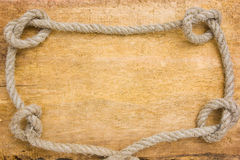 Frame made of rope Stock Photos