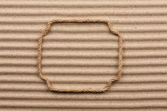 Frame made of rope Stock Photography