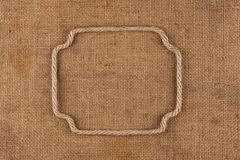 Frame made of rope with space for your text Royalty Free Stock Image