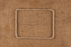 Frame made of rope with space for your text Royalty Free Stock Photography