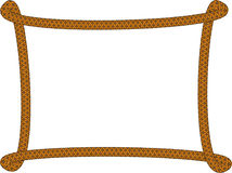 Frame made of rope,vector Stock Images