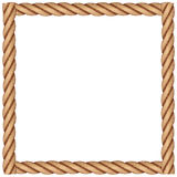 A frame made of rope. On a white background vector illustration
