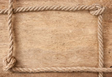 Frame made of rope Stock Image
