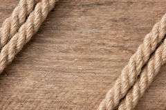 Frame made of rope Royalty Free Stock Photo