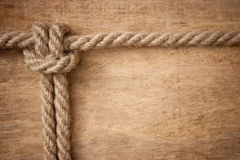 Frame made of rope Stock Photo