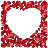 Frame made of rose petals Royalty Free Stock Images