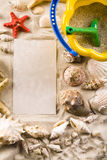 Frame made from shells Royalty Free Stock Photo