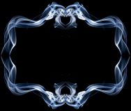 Frame made of smoke. On black background Royalty Free Stock Images
