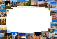Frame made of Spain travel images (my photos) Royalty Free Stock Photos