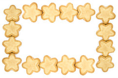 Frame made of star shaped biscuits Stock Photography