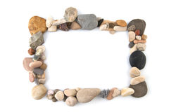 Frame made of stones. Royalty Free Stock Photography