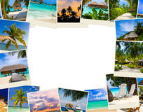 Frame made of summer beach maldives images Stock Image