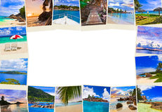 Frame made of summer beach maldives images Royalty Free Stock Photos