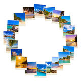 Frame made of summer beach maldives images Stock Photos