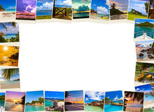 Frame made of summer beach maldives images Stock Photo