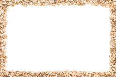 A frame made from sunflower seeds Royalty Free Stock Image