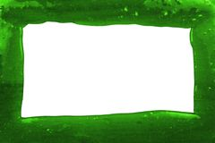 Frame made from transparent green slime. Frame made from green slime on a white background stock images