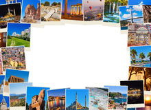 Frame made of Turkey travel images Royalty Free Stock Photos