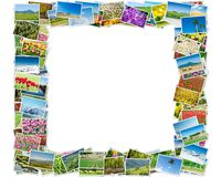 The frame made of various nature photos Royalty Free Stock Photos