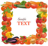 Frame made from vegetables. Stock Photo
