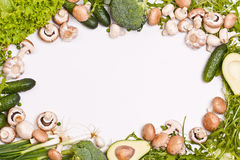 Frame made of vegetables Stock Image