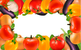 Frame made of vegetables Royalty Free Stock Image