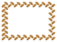 Frame is made of white plaited bread with a poppy. Stock Image