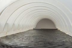 Frame made of white plastic arcs Stock Images