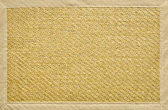 Frame made from wicker and fabric Royalty Free Stock Image