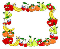 Frame Made With Fruit Cups Royalty Free Stock Image
