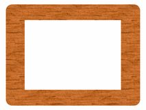 Frame made of wood - insert your image Stock Photos