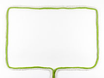 Frame made of woolen thread Royalty Free Stock Photography