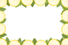 Frame made from yellow lemons Stock Photography