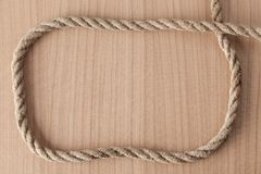 Frame make from rope Royalty Free Stock Photography