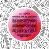Frame  make up and cosmetics vector set. Royalty Free Stock Photography