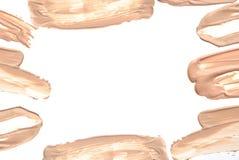 Frame of make up liquid foundation. Royalty Free Stock Photos