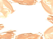 Frame of make up liquid foundation. Frame of make up liquid foundation Royalty Free Stock Photography
