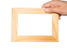 Frame in man hand Stock Photography