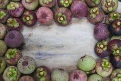 Frame Mangosteen Stock Photos