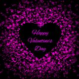 Frame of many hearts - valentines day Royalty Free Stock Image