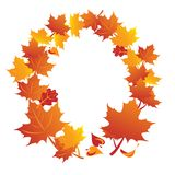Frame of maple autumn leafs Royalty Free Stock Images