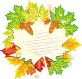 Frame from maple leaves Stock Image