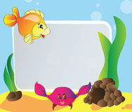 Frame - marine life. Bright frame - the marine life - vector design Stock Image