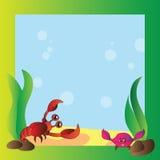 Frame - marine life Royalty Free Stock Photos