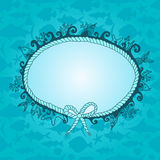 Frame in maritime style Royalty Free Stock Image