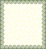 Frame with a meander. Vector ornament in Greek style Stock Illustration