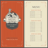 Frame menu with floral ornaments Stock Photos